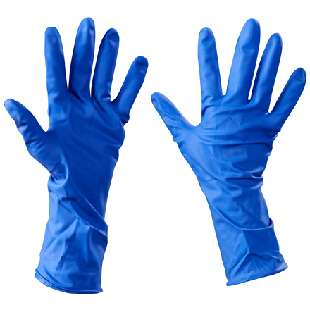 Latex Gloves - Powder Free with Ext. Cuffs